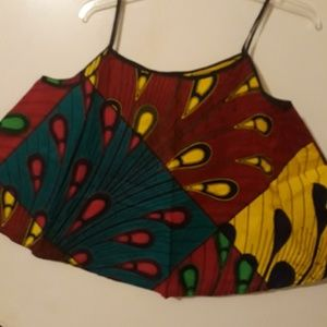 Tops - African print blouse